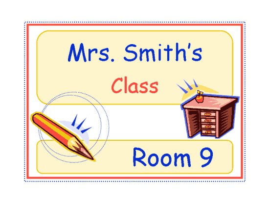 Class Sign (elementary)