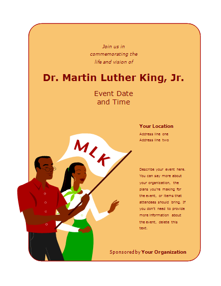 Flyer For Martin Luther King Jr. Day Event