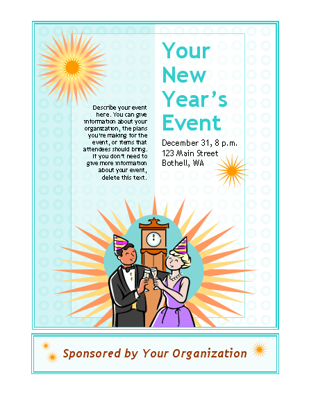 New Year's Event Flyer