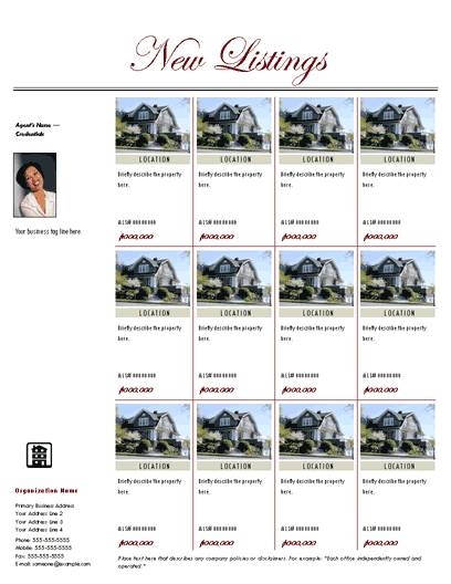 Multiple Listing Flyer (traditional)