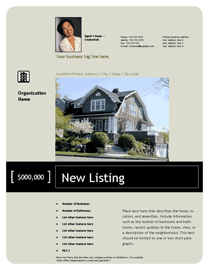 New Listing Flyer (premier, Small Photo)