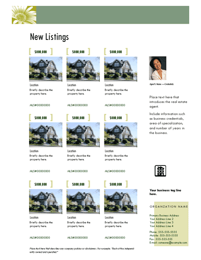 Multiple Listing Flyer (photoscope, Agent Intro)