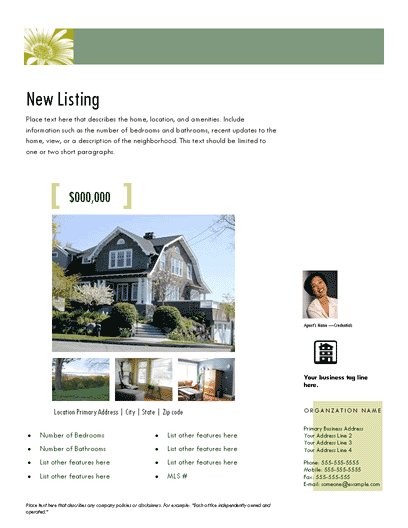 New Listing Flyer (photoscope, Design 2, Mult. Photos)