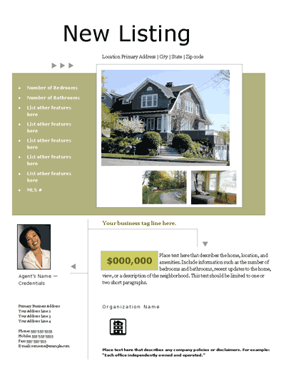 New Listing Flyer (portfolio, Design 1, Mult. Photos)