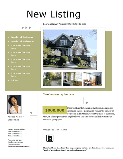 New Listing Flyer (portfolio, Design 2, Mult. Photos)