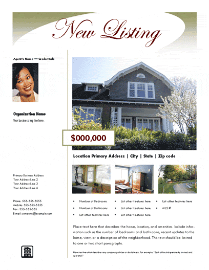 New Listing Flyer (luxury, Design 2, Mult. Photos)