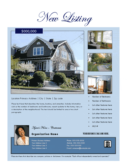 New Listing Flyer (estate, Design 2, Mult. Photos)