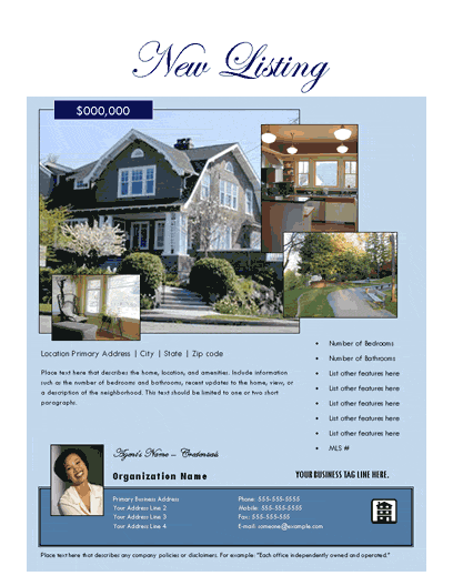New Listing Flyer (estate, Photo Collage)