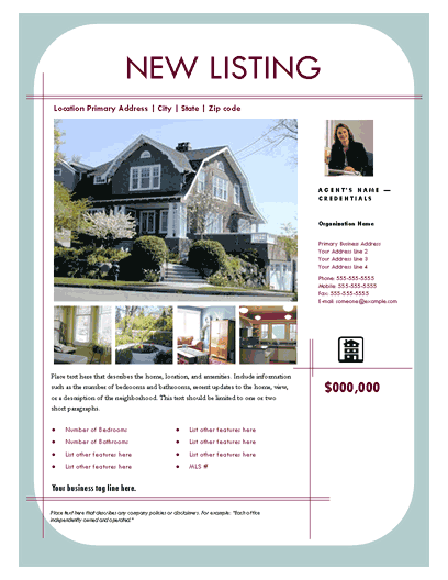 New Listing Flyer (contemporary, Design 2, Mult. Photos)