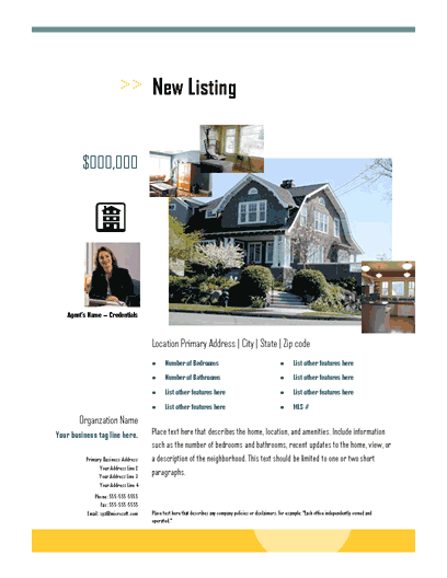 New Listing Flyer (arrows, Photo Collage)