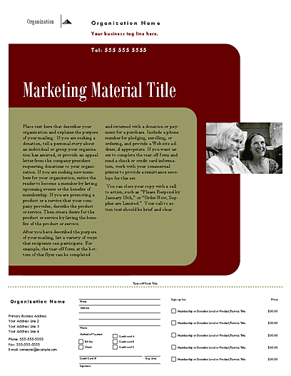 Direct Mail Set Flyer (herald Design, For Desktop Printing)