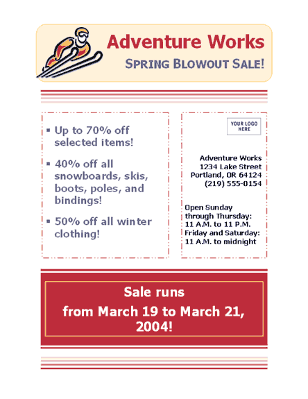 Business Sale Flyer (8 1/2 X 11)