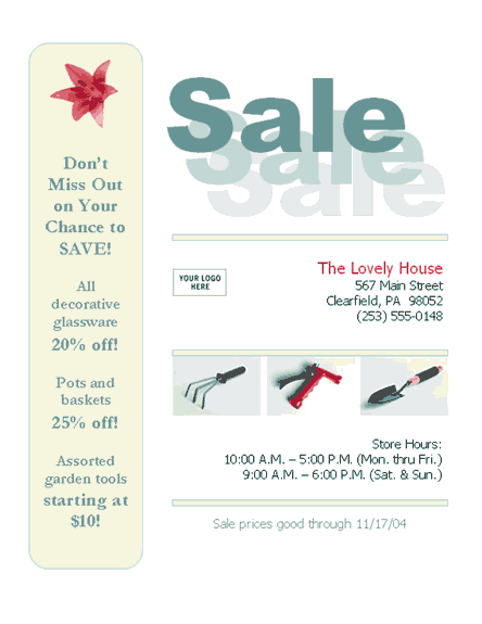Business Sale Flyer (8 1/2 X 11, 3-item)