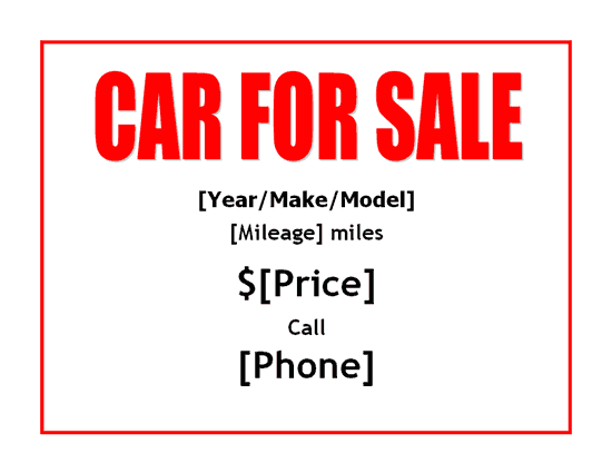 Sale Printable Template Pictures to Pin PinsDaddy – Car for Sale Flyer Template