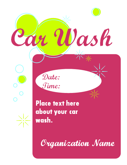 Car Wash Fundraiser Sign (works...