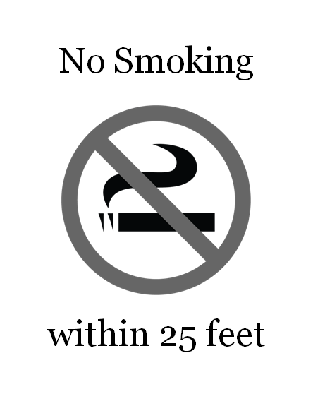 No Smoking Sign (black And White)
