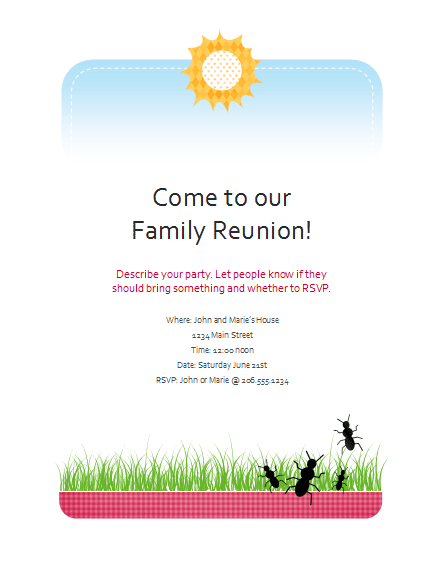 Free family reunion banner templates download free apps for Reunion banners design templates