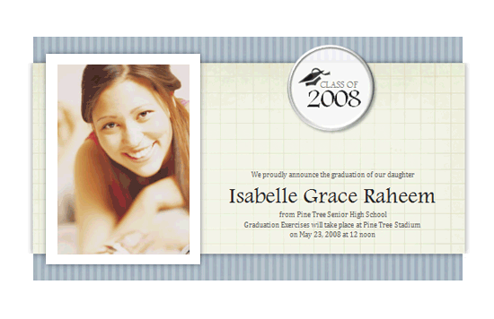 Graduation Announcement With Photo (textures Design)