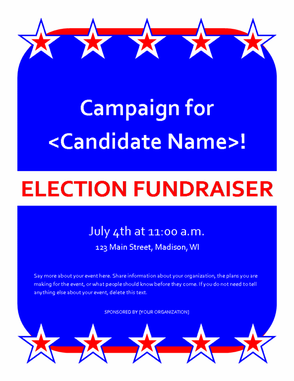 Political Fundraiser Event Flyer