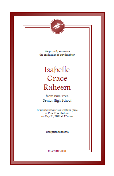 Flyers Templates Graduation Announcement (half-page, Color ...