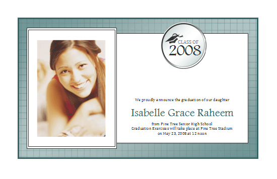 Graduation Announcement With Photo (half-page, Textures Design)