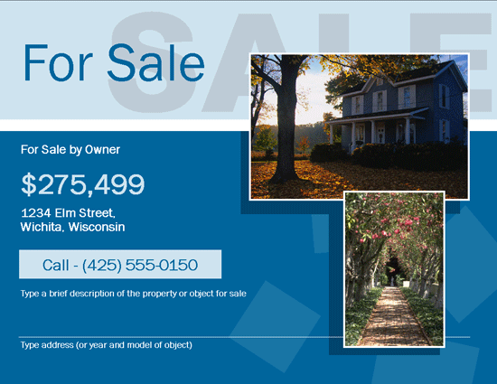 For Sale By Owner (fsbo) Flyer