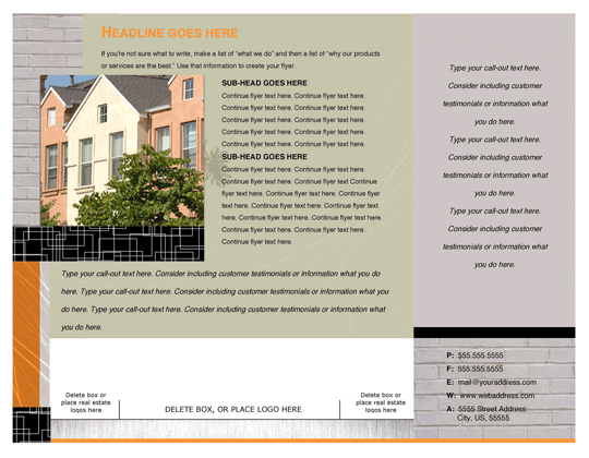 Flyer (realty Modern Design, Landscape)