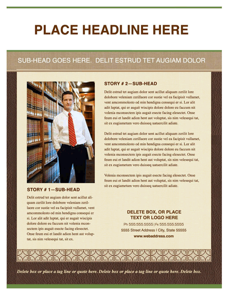Flyer (legal Chic Design, Portrait)