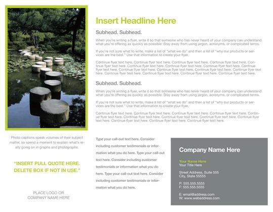 Flyer (modern Elegance Design, Landscape)