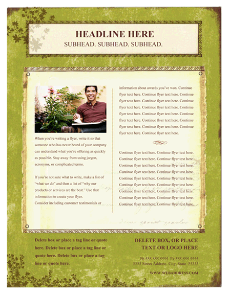 Flyer (weathered Book Design, Portrait)
