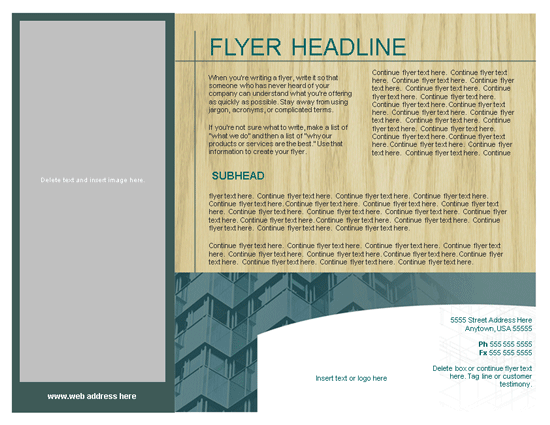 Flyer (urban Modern Design, Landscape)