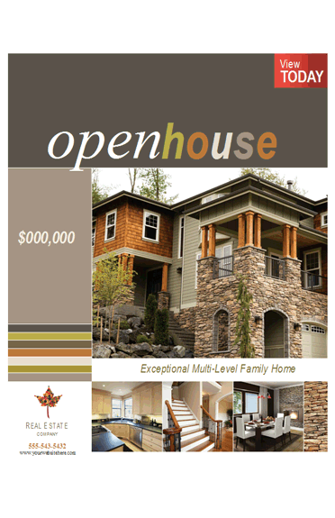 Open House Flyer Template - Microsoft office real estate flyer templates