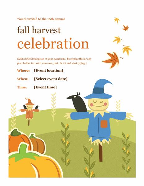 Fall Flyer Design Ideas Template Word