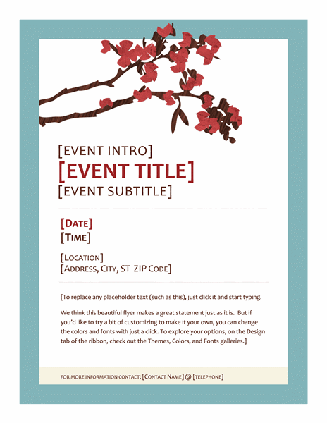 Spring Event Party Flyer Design Ideas Examples