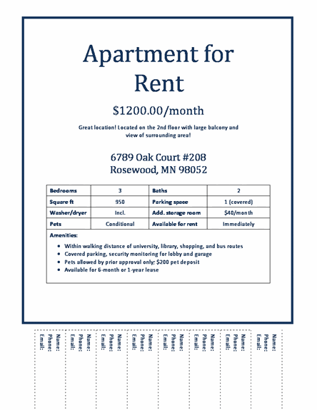 rent flyer template - Kardas.klmphotography.co