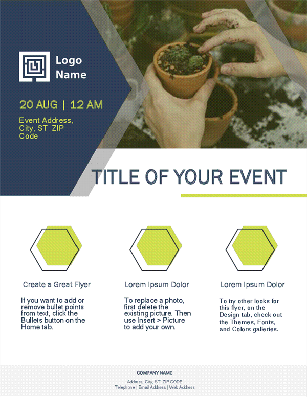 Small Business Flyer Design In Green Theme