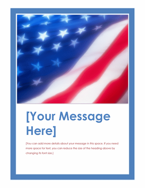 American Flag Event Flyer Design Ideas Examples