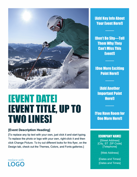 Seasonal Winter Event Party Flyer Design Ideas Examples