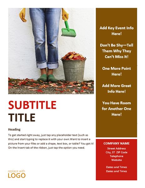 Seasonal Autumn Event Party Flyer Design Ideas Examples