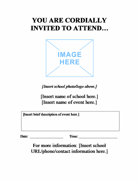 School Event Flyer