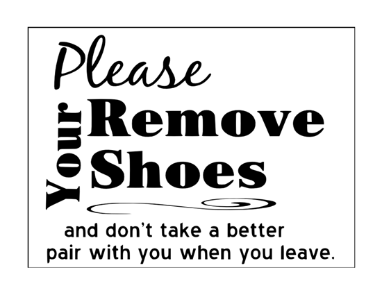 photograph relating to Please Take Off Your Shoes Sign Printable named Remember to take away your footwear signal Footwear for gentlemen on-line
