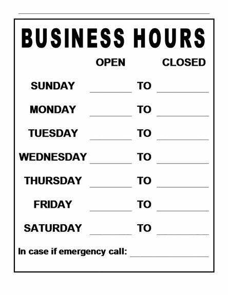 Office hours template free zrom cheaphphosting Image collections