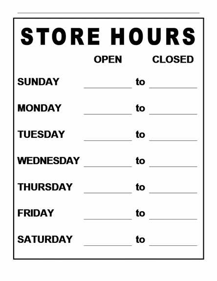 Pin store hours sign on pinterest for Open closed sign template