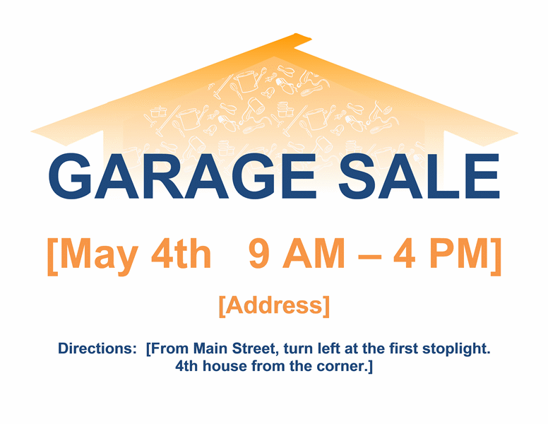 download garage sale flyer  its a free flyer templates for microsoft office softwares