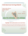 Irish American Heritage Month Event Flyer