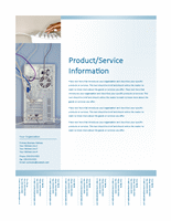 Sample Business Flyer In Technology Theme Design