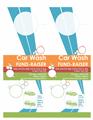 Car Wash Fund Raiser In Door Hanger Layout
