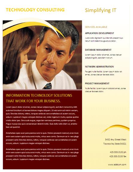 Business Flyer (burgundy Wave Design)