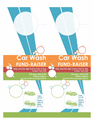 Car Wash Fund Raiser In Door Hanger Layout