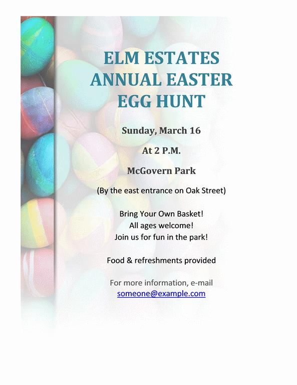 download easter egg hunt flyer free flyer templates for